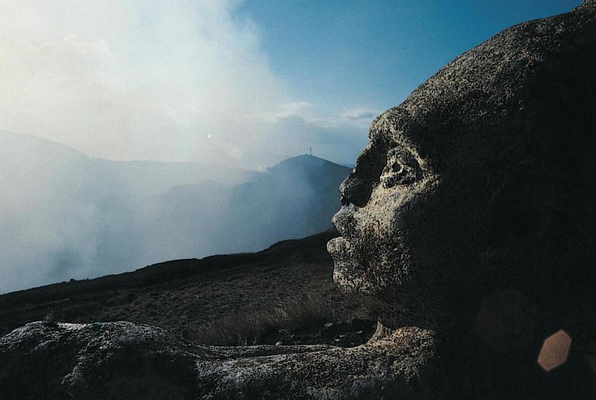 pre-Columbian god sculpture