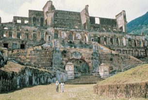 The ruins of the Palais de Sans Souci
