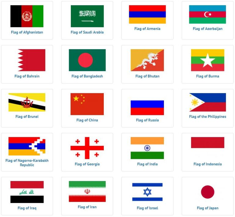 Asian Flags 1