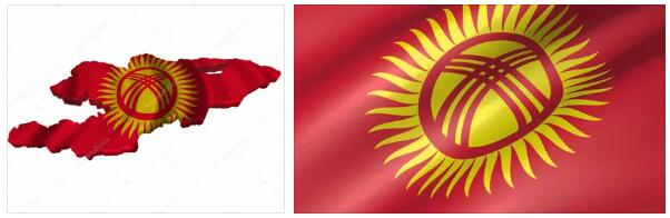 Kyrgyzstan Flag and Map