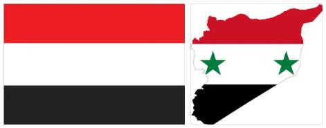 Yemen Flag and Map