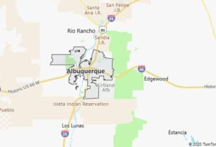 Map of Albuquerque, New Mexico