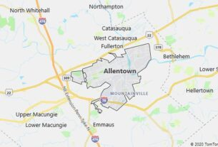 Map of Allentown, Pennsylvania