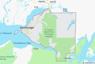 Map of Anchorage, Alaska