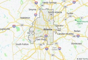 Map of Atlanta, Georgia