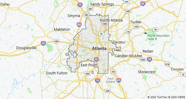 Map of Atlanta, Georgia