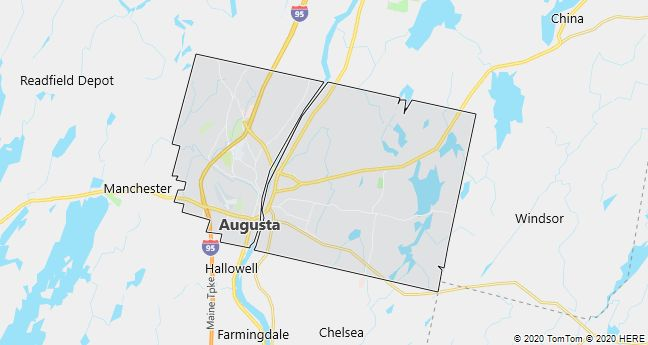 Map of Augusta, Maine