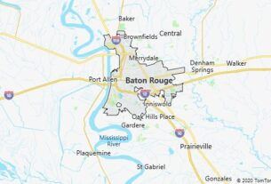 Map of Baton Rouge, Louisiana
