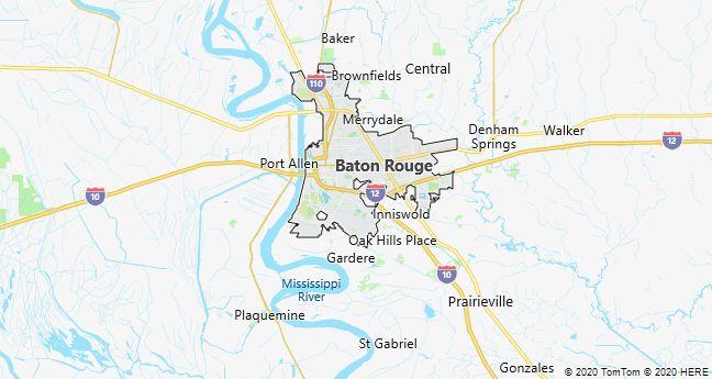 Map of Baton Rouge, Louisiana