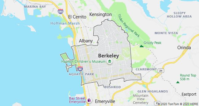 Map of Berkeley, California