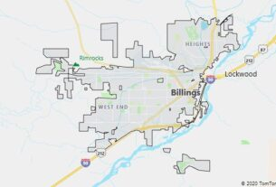 Map of Billings, Montana