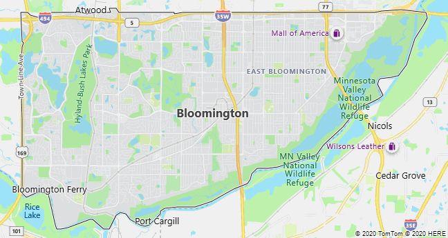 Map of Bloomington, Minnesota