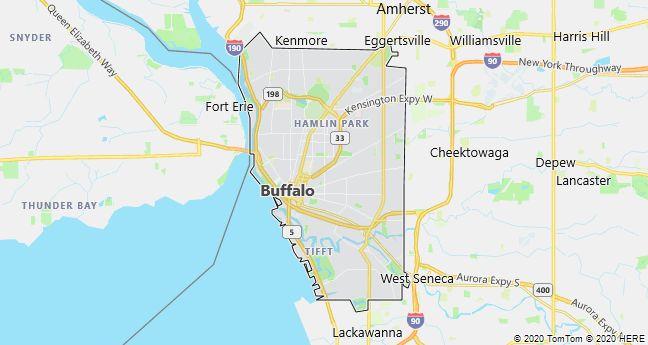 Map of Buffalo, New York