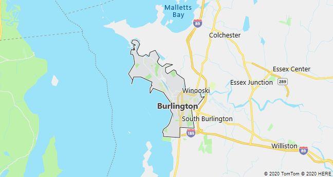 Map of Burlington, Vermont