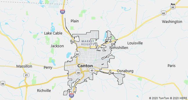 Map of Canton, Ohio