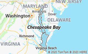 Map of Chesapeake Bay, Virginia