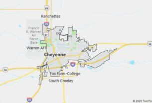 Map of Cheyenne, Wyoming