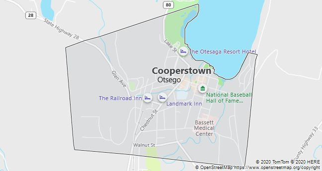 Map of Cooperstown, New York