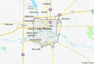 Map of Des Moines, Iowa