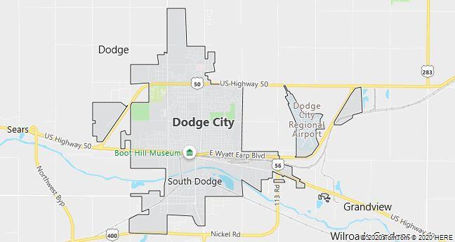 Map of Dodge City, Kansas