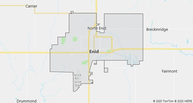 Map of Enid, Oklahoma