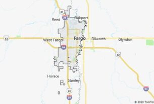 Map of Fargo, North Dakota