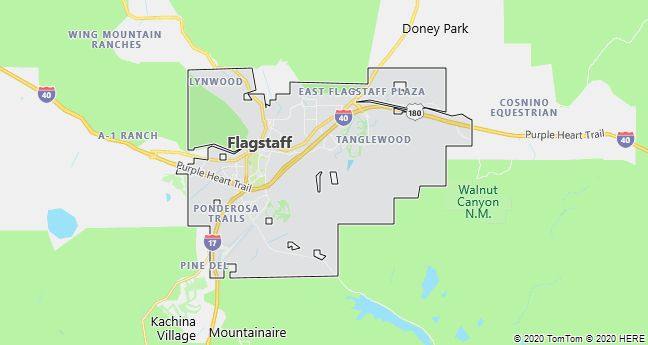 Map of Flagstaff, Arizona