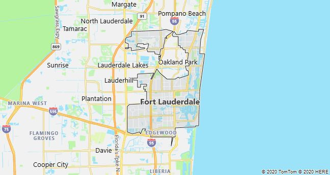 Map of Fort Lauderdale, Florida