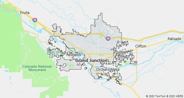 Map of Grand Junction, Colorado