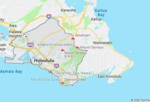 Map of Honolulu, Hawaii