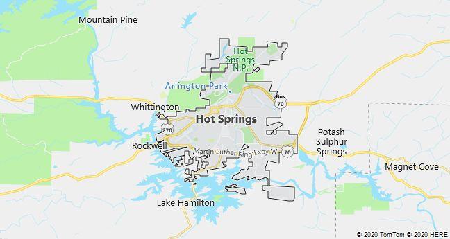 Map of Hot Springs, Arkansas