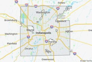 Map of Indianapolis, Indiana