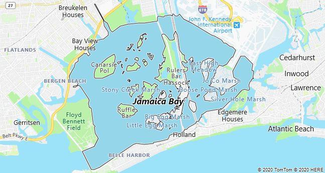Map of Jamaica Bay, New York