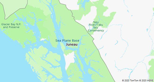 Map of Juneau, Alaska