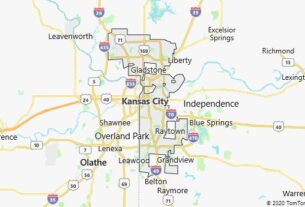 Map of Kansas City, Missouri