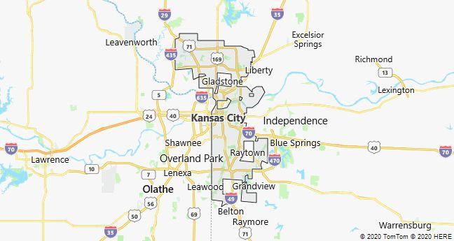 Map of Kansas City, Missouri