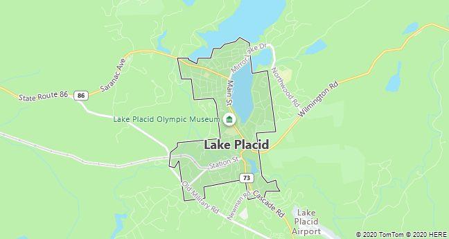 Map of Lake Placid, New York