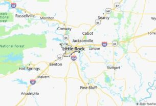 Map of Little Rock, Arkansas