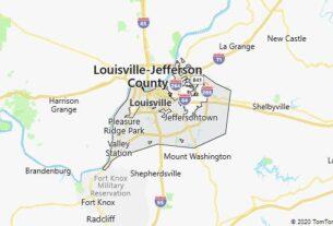 Map of Louisville, Kentucky