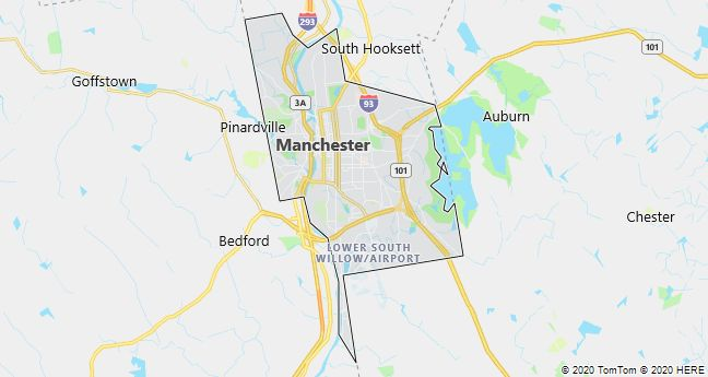 Map of Manchester, New Hampshire