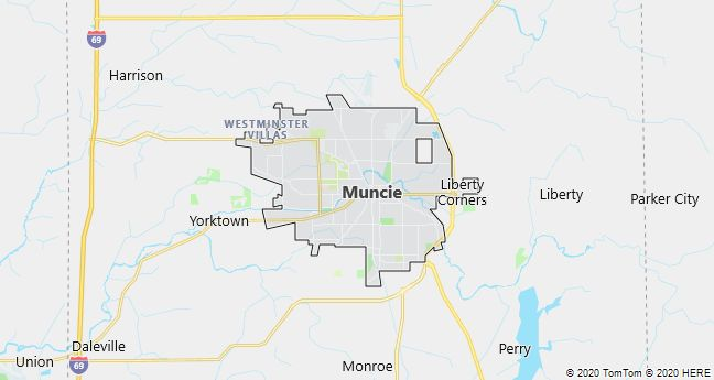 Map of Muncie, Indiana