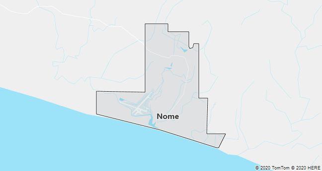 Map of Nome, Alaska