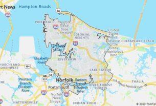 Map of Norfolk, Virginia