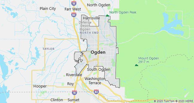 Map of Ogden, Utah