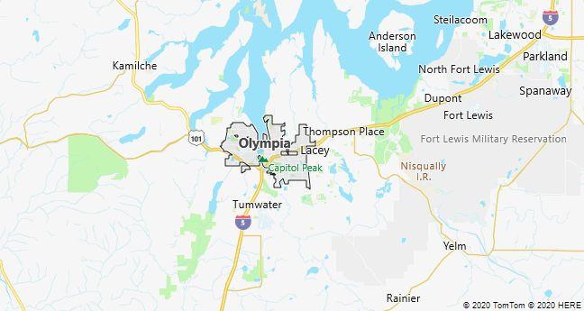 Map of Olympia, Washington