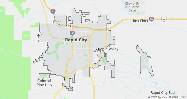 Map of Rapid City, South Dakota