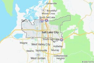 Map of Salt Lake City, Utah