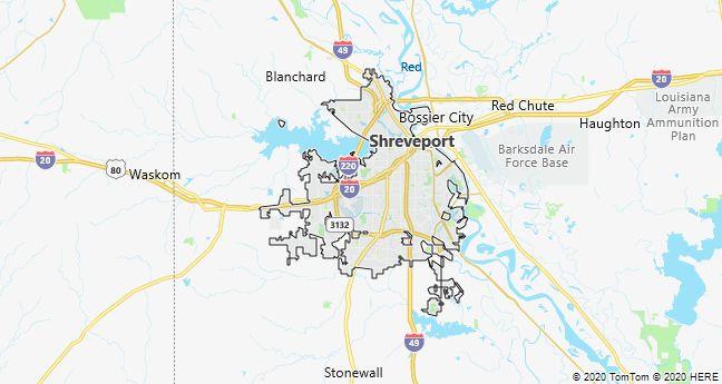 Map of Shreveport, Louisiana