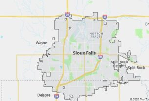 Map of Sioux Falls, South Dakota
