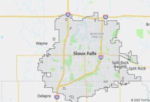 Map of Sioux Falls, South Dakota